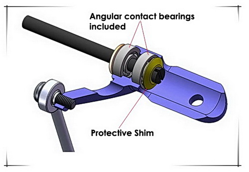 Xtreme Blade MCPX Metal Blade Grip w// angular-contact bearings Silver MCPX001-S