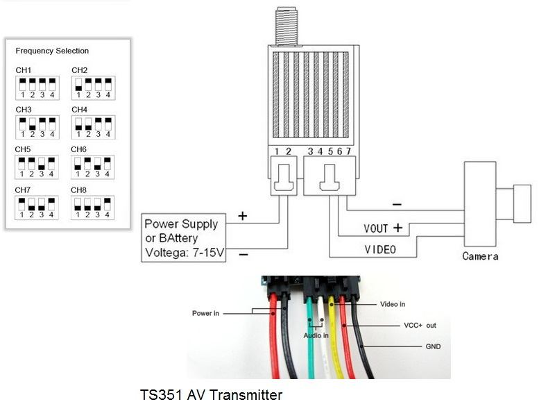 fpv 5 8g 400mw av wireless transmitter ts353  pm